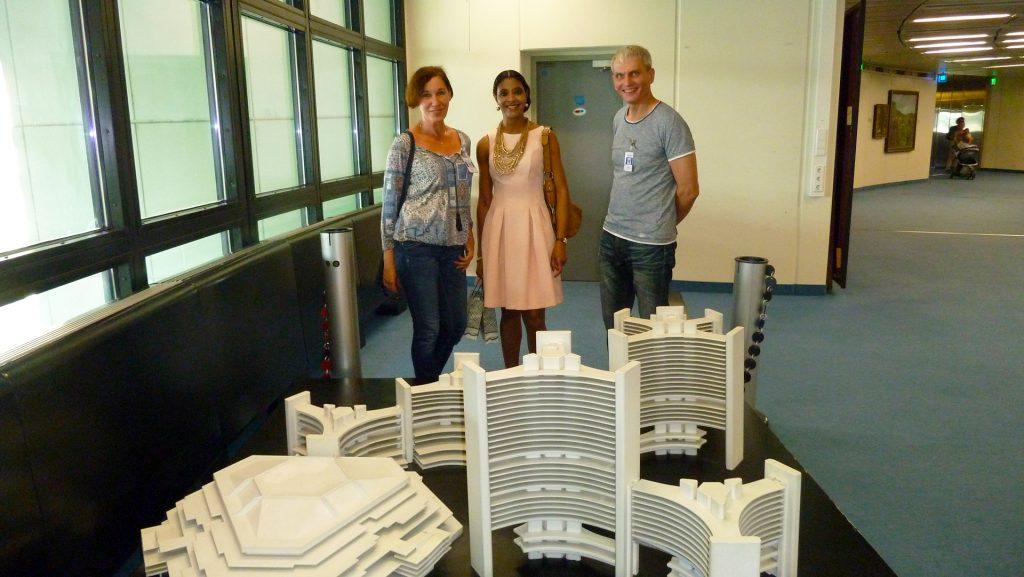 UN hoone makett. Model of UN building.